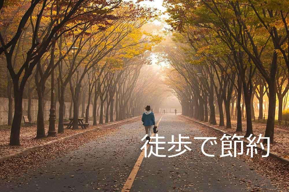 徒歩で節約3000歩で1円~2円